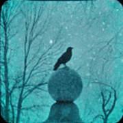 Goth Snow Globe Art Print