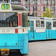 Gothenburg Public Tramcar Art Print