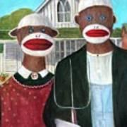 Gothic American Sock Monkeys Art Print