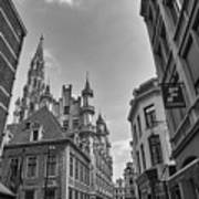 Gothic And Modern In Brussels Art Print