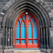 Gothic Church Door Art Print