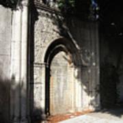 Gothic Darkness. Old Gate Art Print