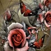 Gothic Roses Art Print