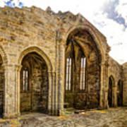 Gothic Temple Ruins - San Domingos Art Print