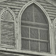 Nantucket Gothic Window  Art Print