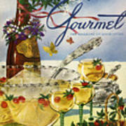 Gourmet Cover Featuring A Bowl And Glasses Art Print
