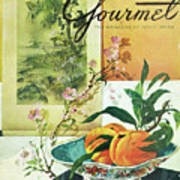 Gourmet Cover Featuring A Bowl Of Peaches Art Print