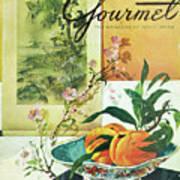 Gourmet Cover Featuring A Bowl Of Peaches Art Print