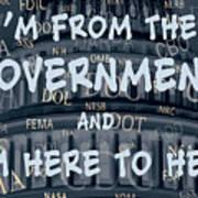 Government Help Art Print