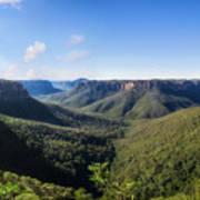 Govetts Leap Lookout Panorama, Australia Art Print