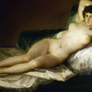 Goya: Nude Maja, C1797 Art Print