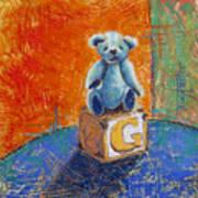 Gq Teddy Art Print