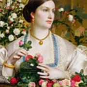Grace Rose Art Print by Anthony Frederick Augustus Sandys