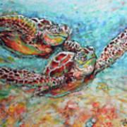 Sea Turtle Buddies Art Print