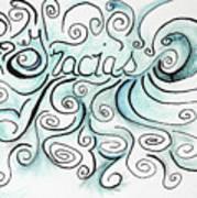 Gracias-1 Art Print