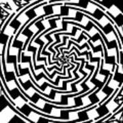 Gradient Tunnel Spin Maze Art Print