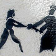Graffiti Art In Black And White Along Streets Of Valparaiso-chile Art Print