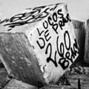 Graffiti Block Art Print