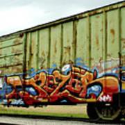 Graffiti Boxcar Art Print by Danielle Allard