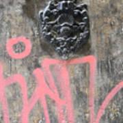 Graffiti Door Knocker Art Print