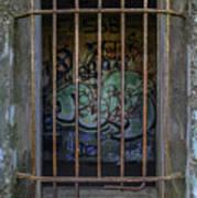 Graffiti Is Barred Art Print