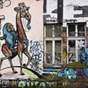 Graffiti On Wall At Metelkova City Autonomous Cultural Center Sq Art Print