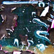 Graffiti Peeling Art Print