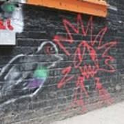 Graffiti Pigeon Art Print