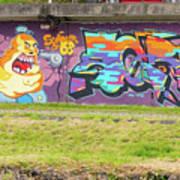 Graffiti Under A Bridge Art Print