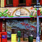 Graffiti Village Store Nyc Greenwich  Art Print