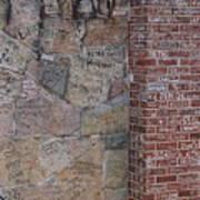 Graffiti Wall Graceland Memphis Tennessee Art Print