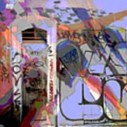 Graffitis Front Door Art Print