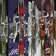 Graffitis Sculpture Art Print