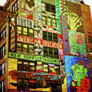 Graffitti On New York City Building Art Print