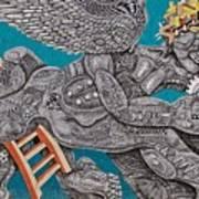 Grafitti Angel Art Print