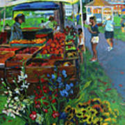 Grafton Farmer's Market Print by Allison Coelho Picone