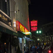 Grafton Street Pub And The Hong Kong In Harvard Square Cambridge Ma Art Print