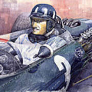 Graham Hill Brm P261 1965 Art Print