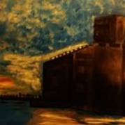 Grain Elevator On Lake Erie From A Photo By Nicole Bulger Art Print by Marie Bulger
