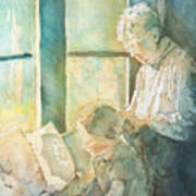 Gramdma Braids Art Print