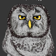 Grammar Owl Is Judging You Art Print