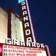 Granada Theater Art Print