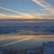 Grand Bend Winter Reflections 2 Art Print