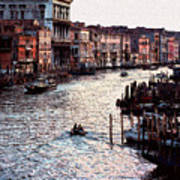 Grand Canal At Sunset Art Print