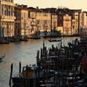 Grand Canal In Venice From The Rialto Bridge Art Print