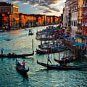 Grand Canal Sunset Art Print