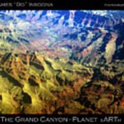 Grand Canyon Aerial View Art Print