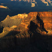 Grand Canyon Arizona Light And Shadow 2 Art Print