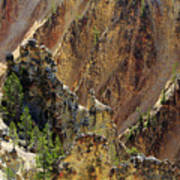 Grand Canyon Of The Yellowstone From North Rim Drive Art Print