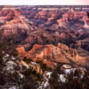 Grand Canyon Winter Sunrise Landscape At Yaki Point Art Print